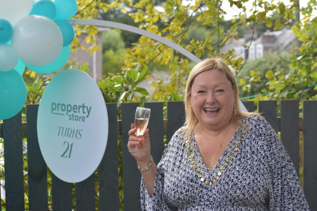 Lorri celebrating the property stores 21st birthday!