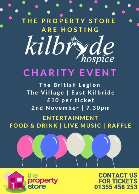 Kilbryde hospice Charity Event Hosted By The Property Store
